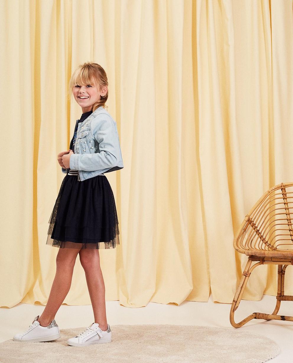 Jeansjacke mit Perlen - cropped fit - Milla Star
